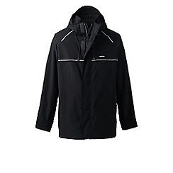 Lands' End - Black tall squall system waterproof jacket