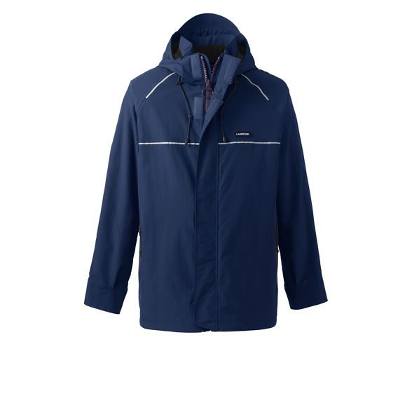 Navy End Lands' waterproof squall jacket tall system 5PWaw