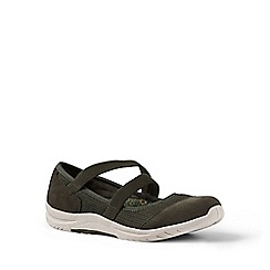 Lands' End - Green wide comfort mary jane shoes