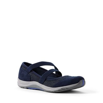Lands' End - Blue wide comfort mary jane shoes