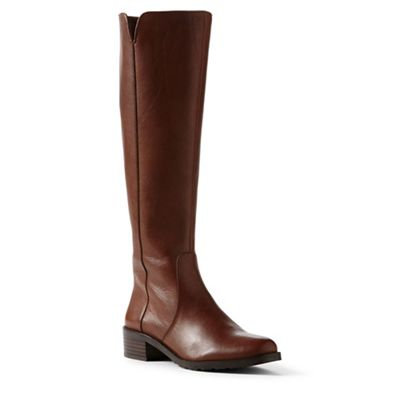 Lands' End - Brown wide leather boots