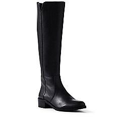 Lands' End - Black wide leather boots