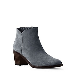 Lands' End - Grey wide suede ankle boots
