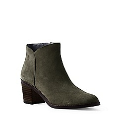 Lands' End - Green wide suede ankle boots