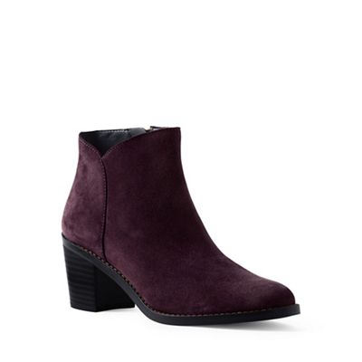 Lands' End - Purple wide suede ankle boots