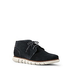 Lands' End - Grey regular casual comfort suede boots