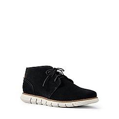 Lands' End - Black regular casual comfort suede boots