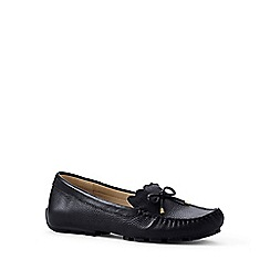 Lands' End - Black wide scalloped driving shoes