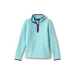 Lands' End - Girls' blue sweater fleece jumper