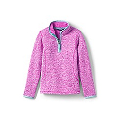 Lands' End - Girls' pink sweater fleece jumper
