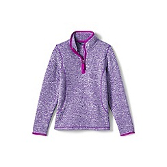 Lands' End - Girls' purple sweater fleece jumper
