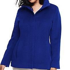Lands' End - Blue plus stand collar jacket