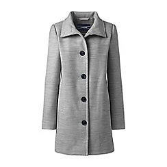 Lands' End - Grey stand collar coat