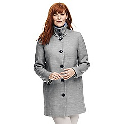 Lands' End - Grey plus stand collar coat