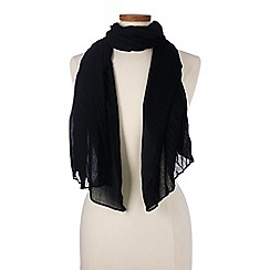 Lands' End - Black pleated scarf
