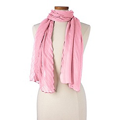 Lands' End - Pink pleated scarf
