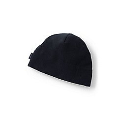 Lands' End - Black boys' fleece beanie hat