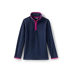Lands' End - Blue girls' thermacheck-100 fleece half-zip pullover