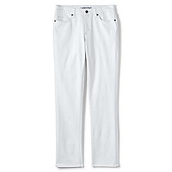 Lands' End - White jeans - mid rise true straight fit jeans