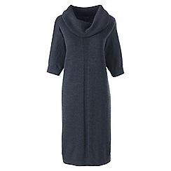Lands' End - Grey petite pure merino wool dress