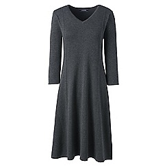 Lands' End - Grey petite fine gauge supima knitted dress