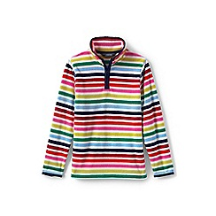 Lands' End - Multi girls' thermacheck-100 printed fleece half-zip pullover