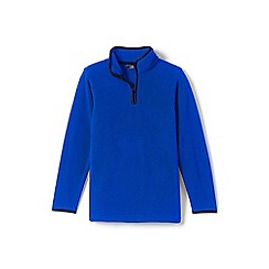 Lands' End - Blue boys' half-zip fleece top