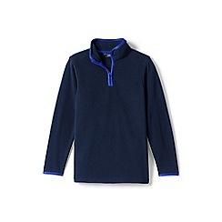 Lands' End - Boys' blue half-zip fleece top