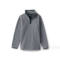 Lands' End - Grey boys' half-zip fleece top