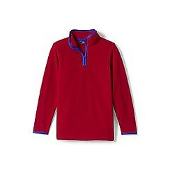 Lands' End - Boys' red half-zip fleece top