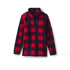 Lands' End - Red toddler boys' printed half-zip fleece top