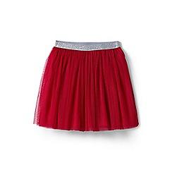 Lands' End - Girls' red soft tulle skirt