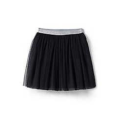 Lands' End - Girls' black soft tulle skirt