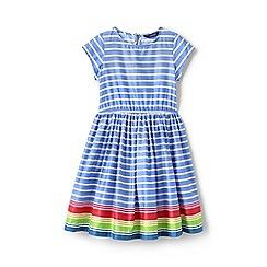 Lands' End - Girls' Blue  woven twirl dress