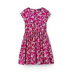 Lands' End - Girls' pink  woven twirl dress
