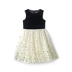 Lands' End - Girls' black  tulle party dress