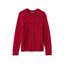 Lands' End - Boys' red drifter cable jumper
