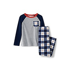 Lands' End - Boys' multi chest pocket fleece pyjamas