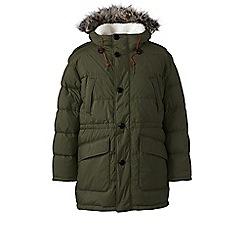 Lands' End - Green down parka jacket