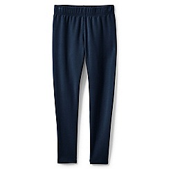 Lands' End - Girls' blue cosy ankle length leggings