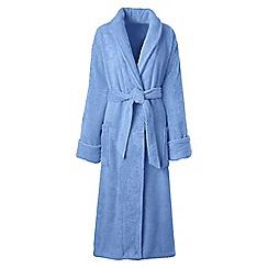 Lands' End - Blue women's plus luxury terry robe