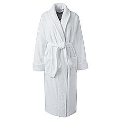 Lands' End - White women's plus luxury terry robe
