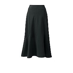 Lands' End - Grey ponte jersey midi skirt