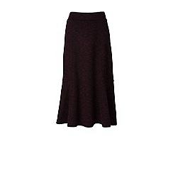 Lands' End - Brown ponte jersey tweed midi skirt