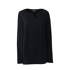 Lands' End - Black pintuck tunic