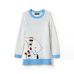 Lands' End - Girls' cream polar bear legging top