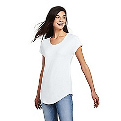 Lands' End - White short sleeve bamboo jersey scoopneck t-shirt
