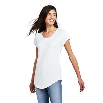 99bd1ffa62c Lands  End - White plus short sleeve jersey scoop neck t-shirt