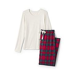 Lands' End - Multi womens patterned flannel pyjama gift set
