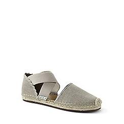 Lands' End - Brown cross-strap espadrille sandals
